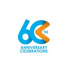 60 years anniversary celebrating template design vector
