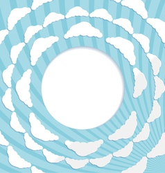 Abstract circular background with clouds vector