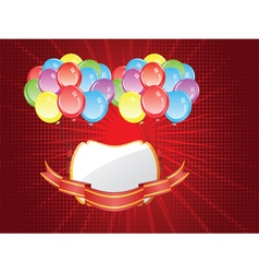 Balloons with Banners5 vector image