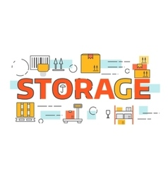 Banners for storage and delivery vector image