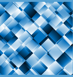 Blue abstract background with geometric pattern vector