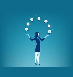 Businesswoman show creative vector