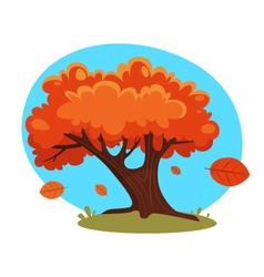 Cartoon autumn tree vector