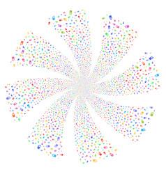 Cell phone fireworks swirl flower vector
