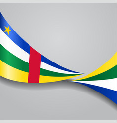 Central african republic wavy flag vector