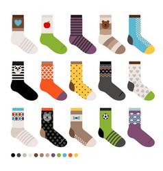 Childrens socks icon set vector