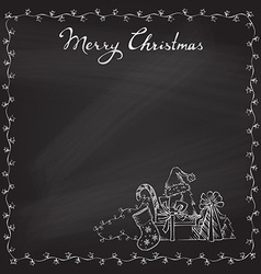 Christmas chalk background vector