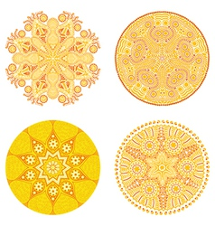 Circle ornament ornamental round lace collection vector image