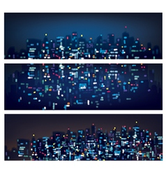 City banners night vector