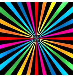 Colorful Bright Rainbow Spiral Background vector
