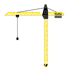 Construction crane tower vector image