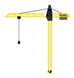 Construction crane tower vector