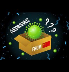 Coronavirus spreading via chinese postal delivery vector