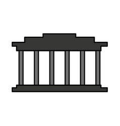 court building isolated icon vector image