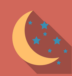 Creative crescent moon with stars for holy month vector