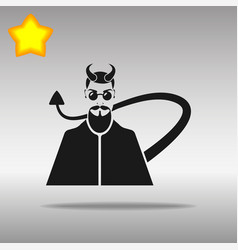devil black icon button logo symbol vector image
