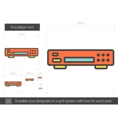 Dvd player line icon vector
