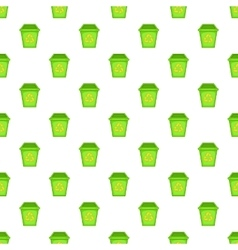 Eco dustbin pattern cartoon style vector