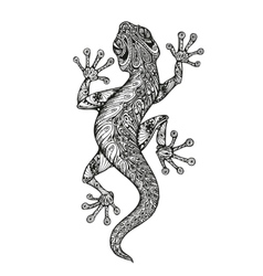 Ethnic ornamented salamander Vintage graphic vector image