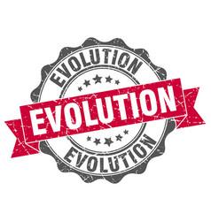 evolution stamp sign seal vector image