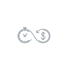 Financial investments concept money insurance icon vector image