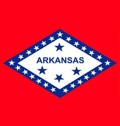 Flag of arkansas vector