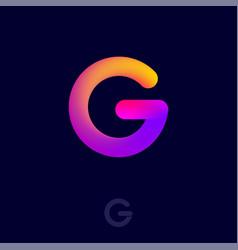 g logo monogram gradient letter vector image