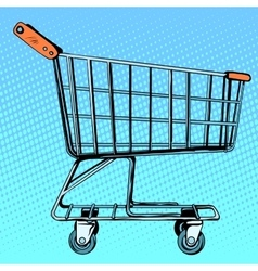 Grocery cart store vector