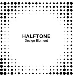 halftone circle dots frame background square vector image