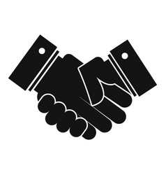 hand peace icon simple black style vector image