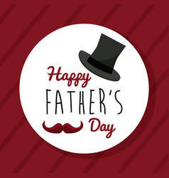 Happy fathers day greeting card decoration vector