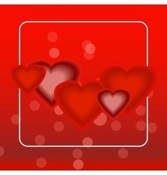hearts for decoration bag t-short print vector image