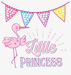 Hello baby shower card vector
