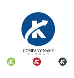 K letter logo business template vector