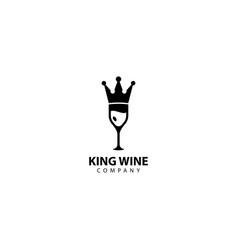 King wine logo icon vector