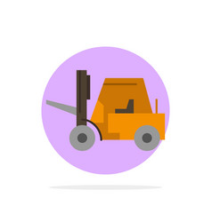 Lifter lifting truck transport abstract circle vector