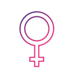 line femele gender symbol to special event vector image