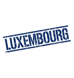 Luxembourg blue square stamp vector