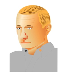 Man profile portrait vector image