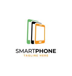 mobile phone logo vector image