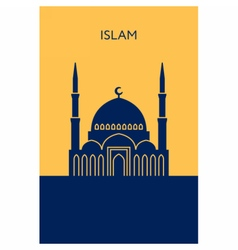 Mosque icon Islam building vector