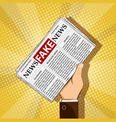 Newspaper with lies and propaganda vector