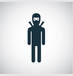 ninja icon for web and ui on white background vector image