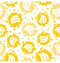 Organic food background bananas seamless pattern vector