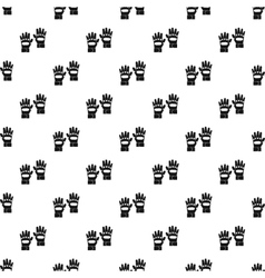 Paintball gloves pattern simple style vector