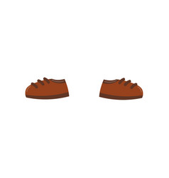 pair of brown shoes on a white vector image