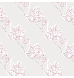 Pink Flowers On Gray vector