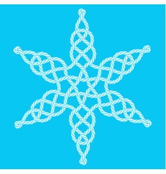 Rope decorative celtic star composition vector