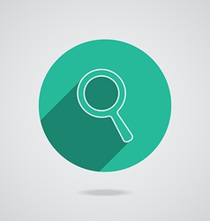 Search Icon Magnifying Glass with long shadow vector image
