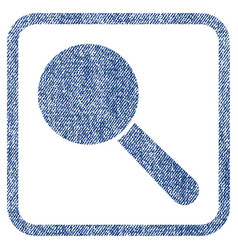 search tool fabric textured icon vector image